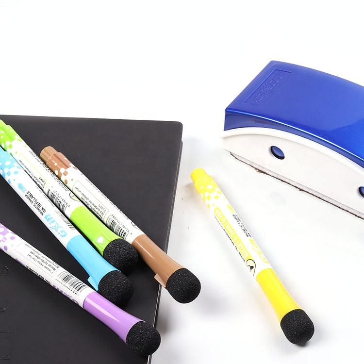 GXIN G-208 coloured whiteboard marker pen with magnet and Eraser