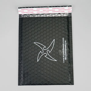 Waterproof Black Custom Poly Bubble Mailer