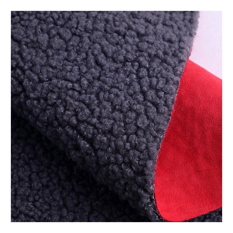 New 100% Polyester Bonded Sherpa Fabric With Suede Fabric