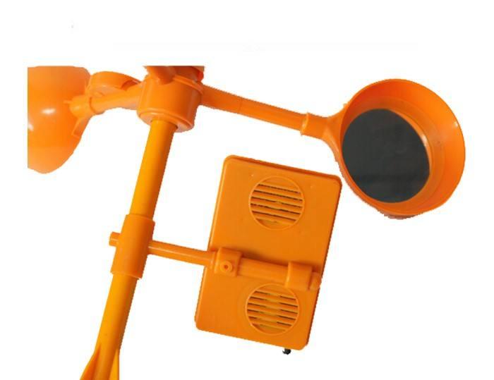 Control <span class=keywords><strong>de</strong></span> Plagas pájaro trampas Pájaro Solar repelente viento ahuyentador para cable y granja