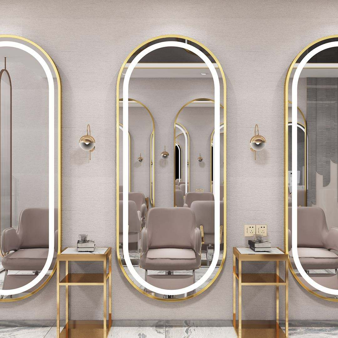 Modern full length wall large hair salon station led mirror