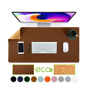 Eco-friendly di Sughero Naturale Leather Double-Sided Ufficio Scrivania Tappetino per il Mouse Pad Scrivania Protezione di Scrittura Mat per Home Office Gaming