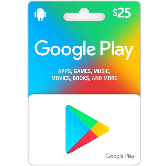 US Region Google Play $25USD Gift Card