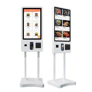 32 inch Restaurant Automatic Kiosk Touch Screen Computer Unattended Self Ordering Self Service Payment Kiosk Machine