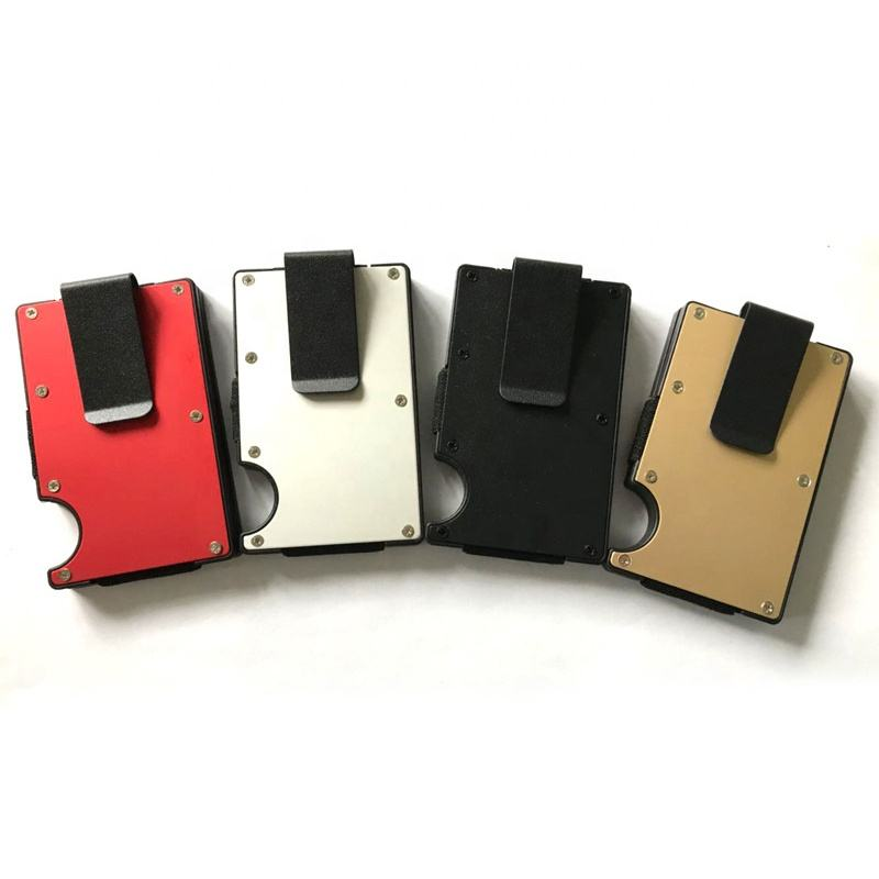 MRF-06 High capacity Custom RFID blocking ABS aluminum material credit card holder slim wallet money clip