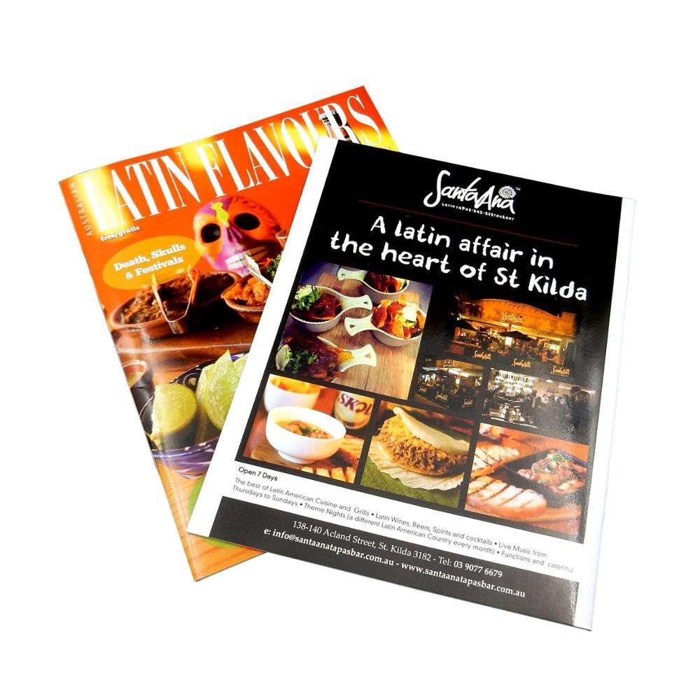 Fast delivery customized size well designed magazine zine printing