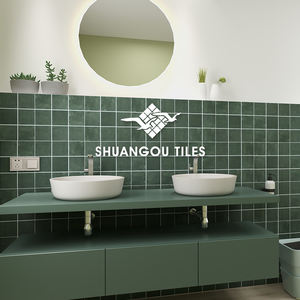 4x4 inch square injek green stone look unglazed porcelain for bathroom wall shower floor swimming pool non slip tile