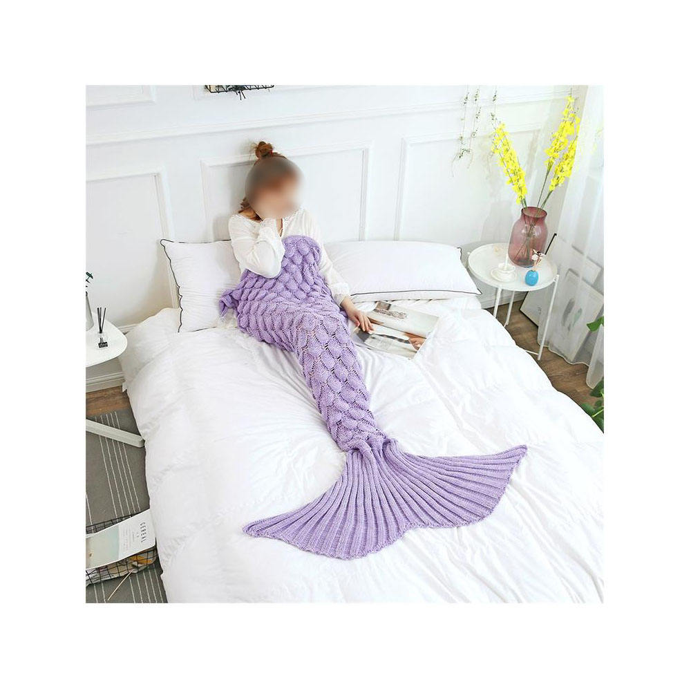 Amazon Hot Sale Knitted Crochet Mermaid Tail Blanket