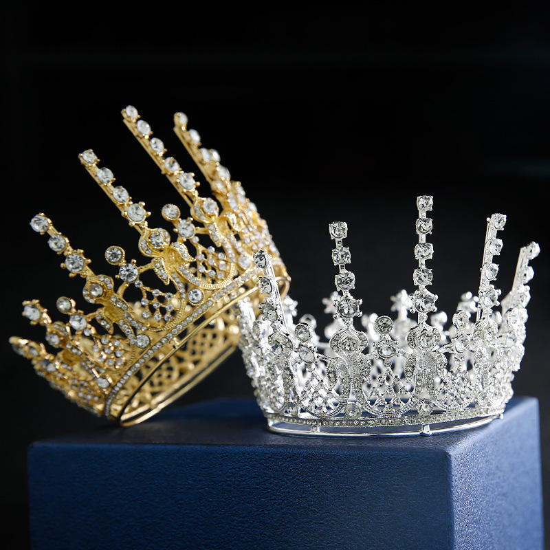 Wholesale New Fashion Crystal Rhinestone Crown Bridal Crown Tiaras Bride Wedding Hair Accessories Cake Topper CR263