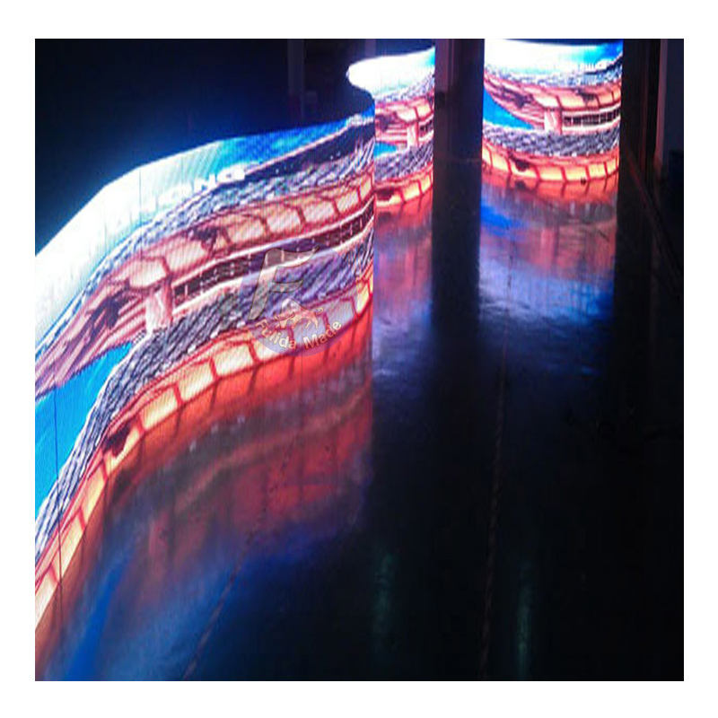 Fulida Display Flexible Digital Led Display Cylindrical Dome LED Screen Foldable Screen 360 Degree View