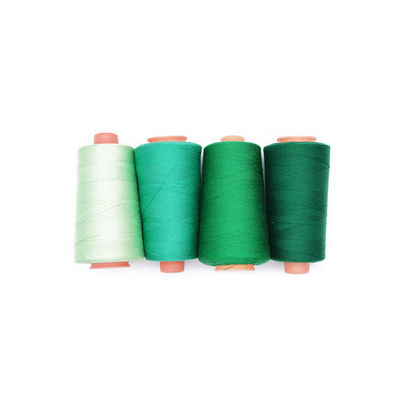 Special Design Promotional Price 100% Spun Polyester 20/2 Colorful Green Sewing Thread For Heavy Weight Fabric