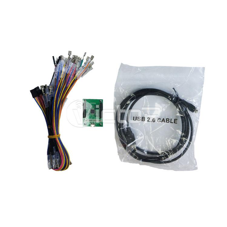 Xin Mo Arcade 2 Người Chơi Zero, Trễ Mã Hóa Trình Điều Khiển USB Kit MAME PC Bàn Phím Mã Hóa