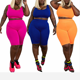 2020New Fashion Solid Color Sleeveless And Shorts Woman Clothing Plus Size Womens 2 Piece Outfit
