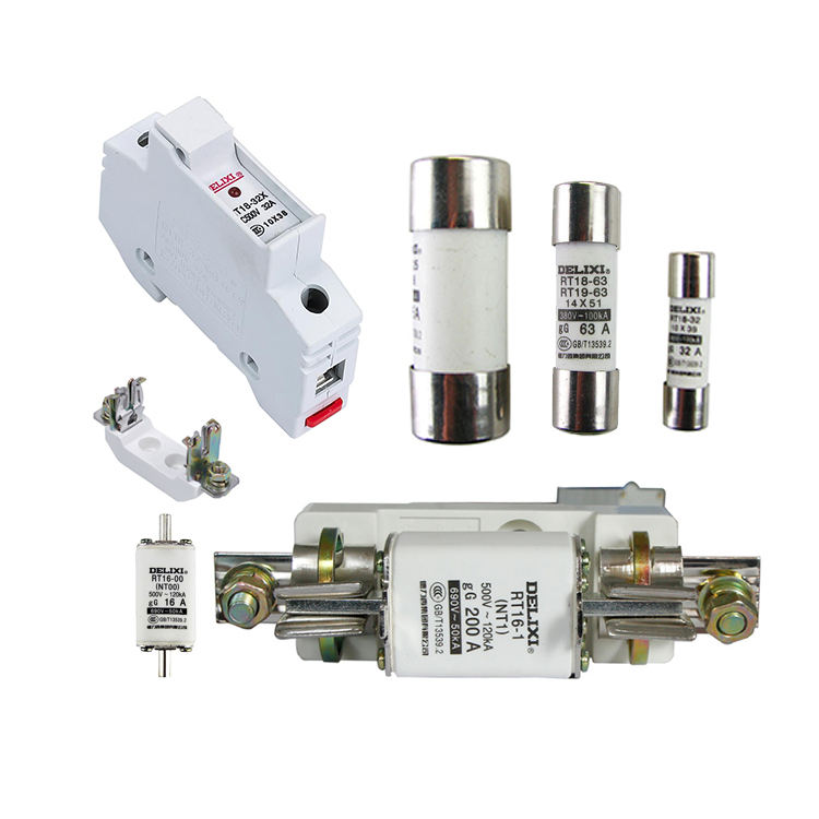 DELIXI rt 18-32 80a auto blade 12v 48v dc hrc fuse with hrc fuse base