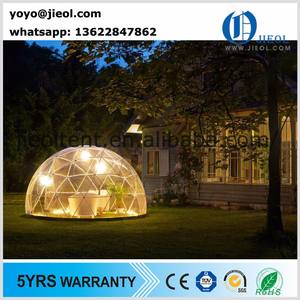 Half clear transparent geodesic dome tent mobile projection dome for event party