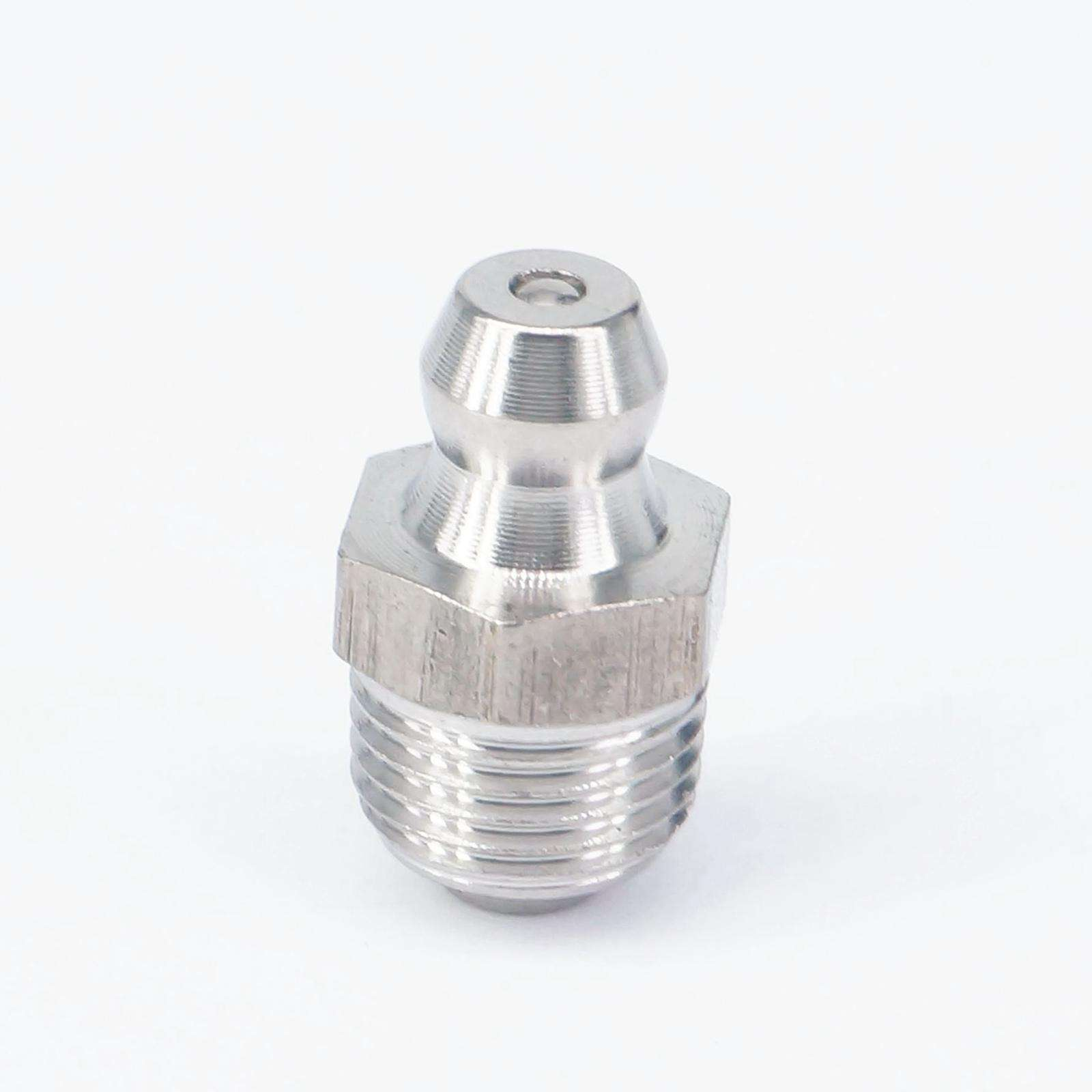 M6 x 1 Male Thread Stainless Steel Straight 45 Degree 90 Degree Angle Hydraulic Grease Nipple Fitting