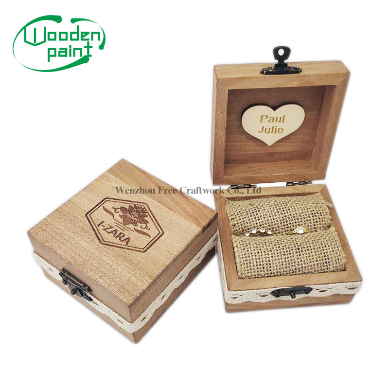 Wholesale High Quality luxury fashion Shabili wood custom logo handcrafted wooden jewelry packaging boxes for ear ring