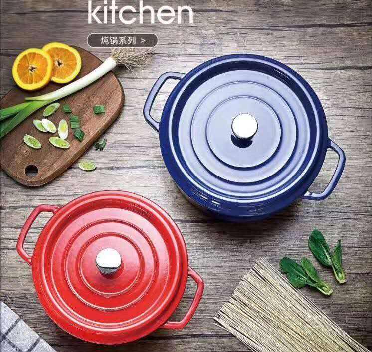 Alimentos de grado de hierro fundido de cerámica olla de arroz calor cazuela para sanitarias Cocina