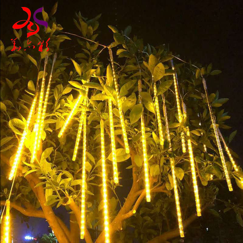 Factory directly for Shower Falling Star Rain Drop/Icicle Snow outdoor Garden LED Xmas Christmas Tree String Light