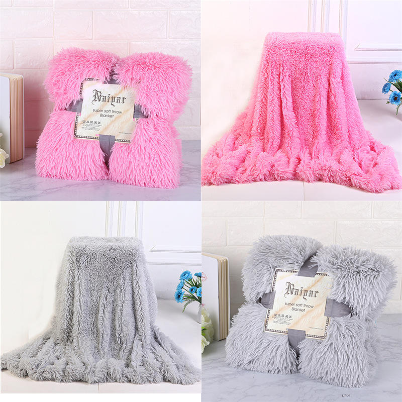 Super Soft Long Shaggy Fuzzy Fur Faux Fur Warm Elegant Cozy With Fluffy Sherpa Throw Blanket winter blankets for beds