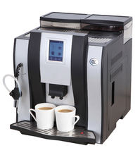Coffee Machine with Milk Steamer Cup Pre-warming