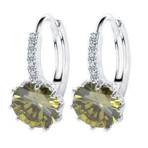 Mixed Colors Lot Bulk Wholesale Super Quality Single Stone Earring Designs for Women