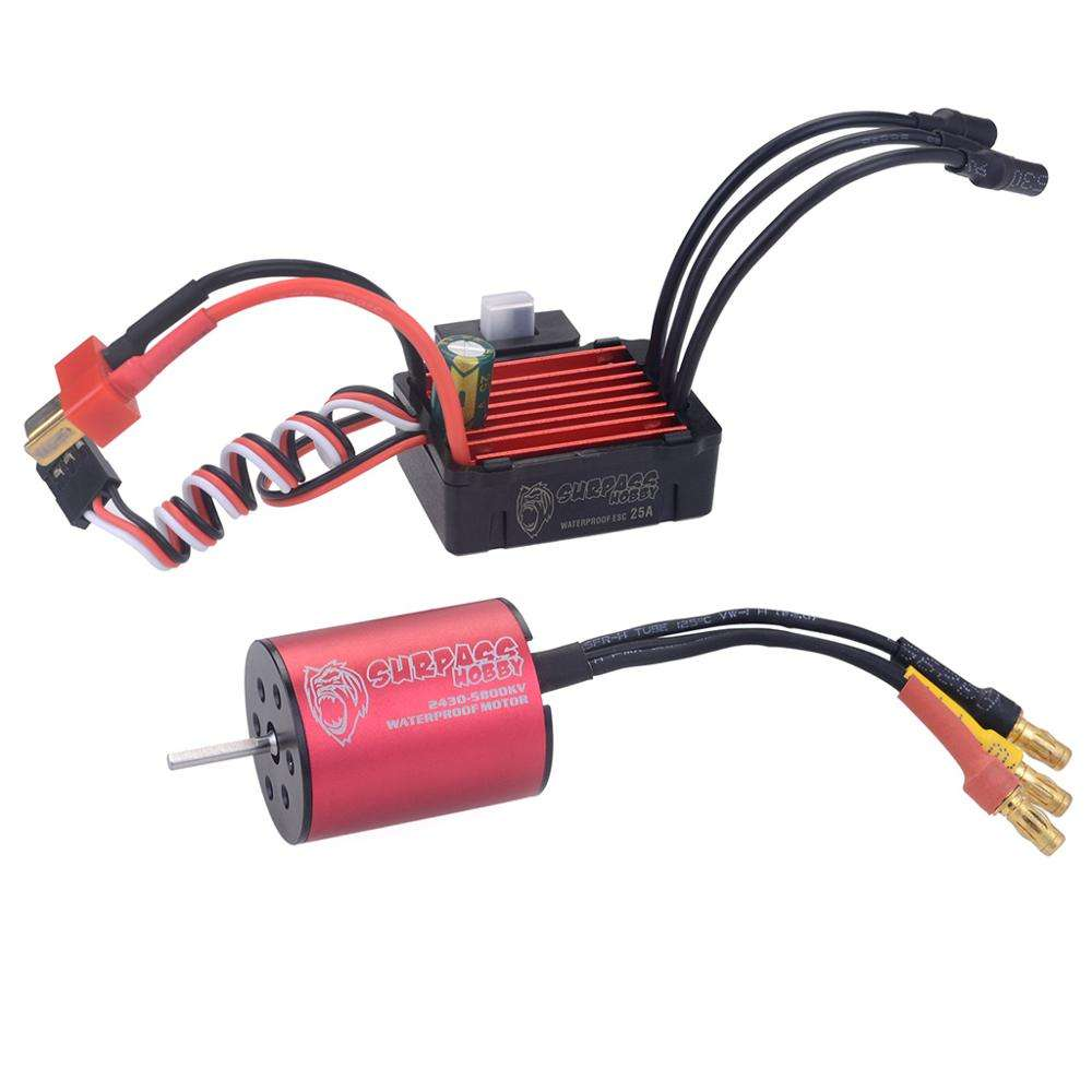 Surpass Hobby 2435 motor +ESC 30A waterproof brushless motor esc combo remote control car toy parts