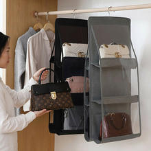 Home Organization Hook Hanger 6 Pocket Big Bags Storage Folding  hanging purse handbag organizer storage