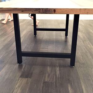 Factory customized H shape iron steel metal coffee dining table leg