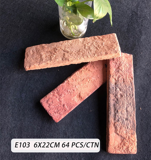 60X220X10MM Clay brick wall tiles for inside and outside