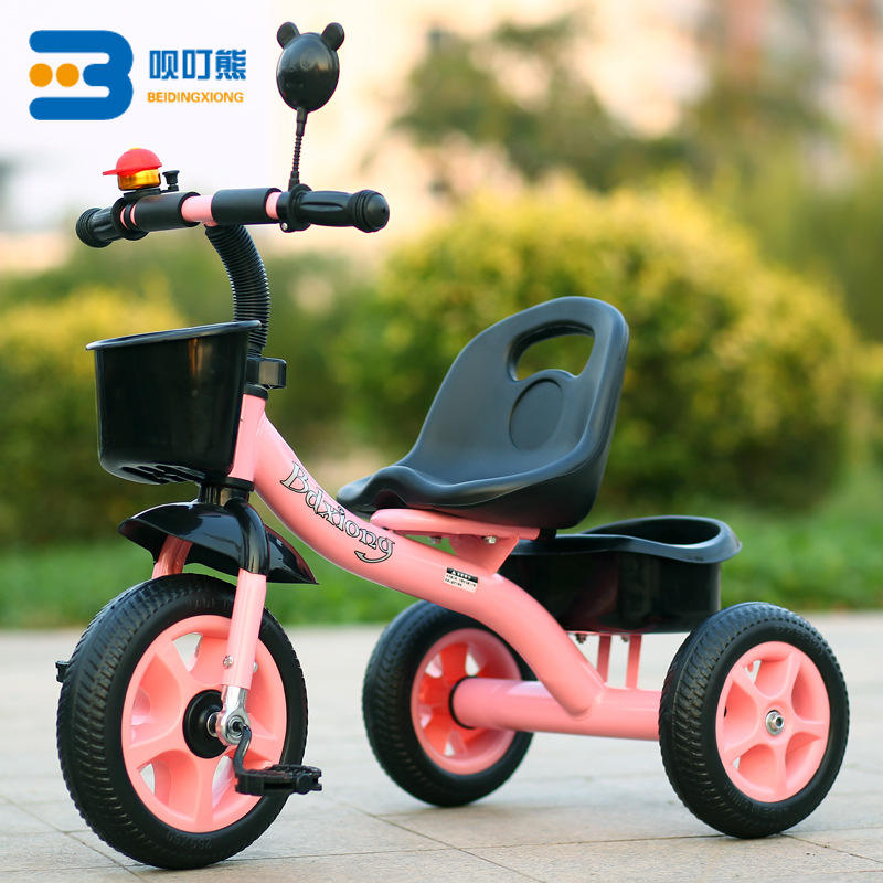 Wholesale children safety foam wheel 3 wheel steel kid tricycle