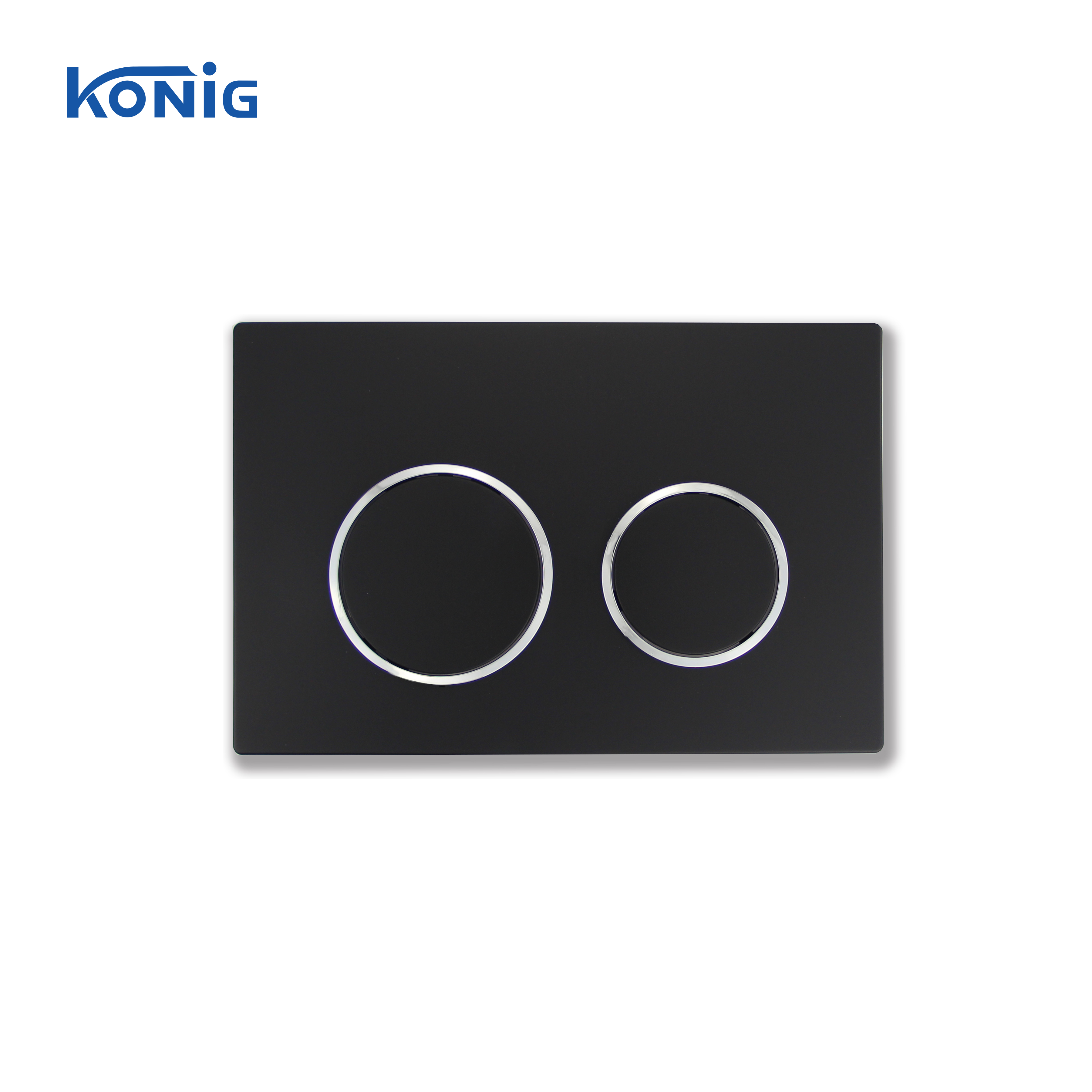 Matte Black Bathroom Push Button For Concealed Cistern Toilet Flush Plate