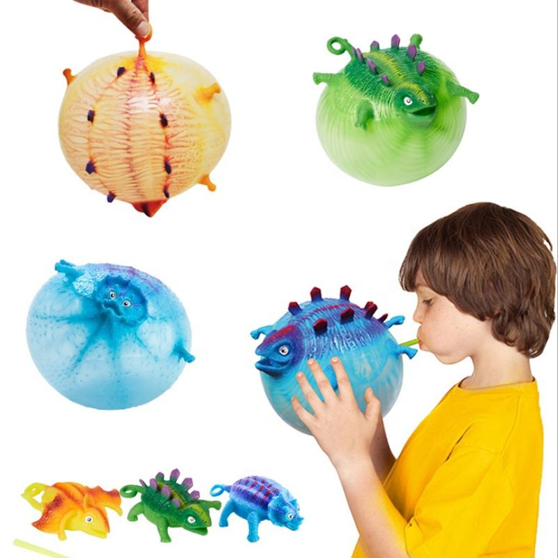 Squishy TPR Animal Shaped Dinosaur Balloon Squishies Anti Stress Ball Relief Toys For Kids