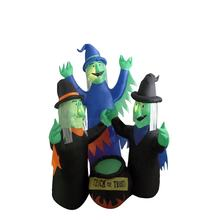 Halloween Inflatable Decoration Toy Witch Family Trick or Tream