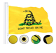 National Flag L Promotional Flags 2019 High Quality Customized Embroidered Promotion Dont Threat on Me L Flag