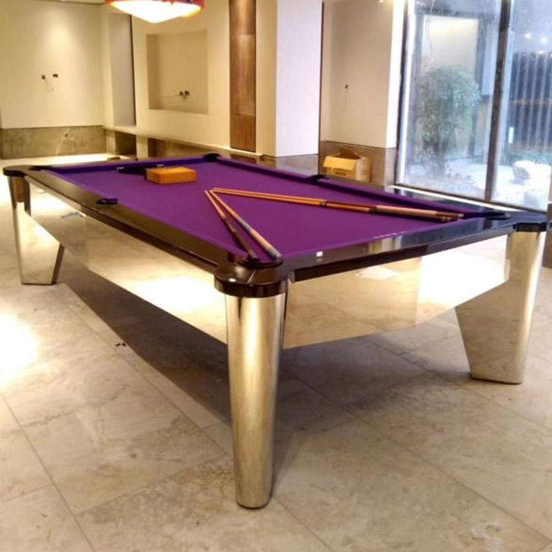 Silk / Gold Color and Billiards pool table /snooker table Suitable snooker table corner