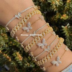 wholesale diamond jewelry butterfly bracelets 2020
