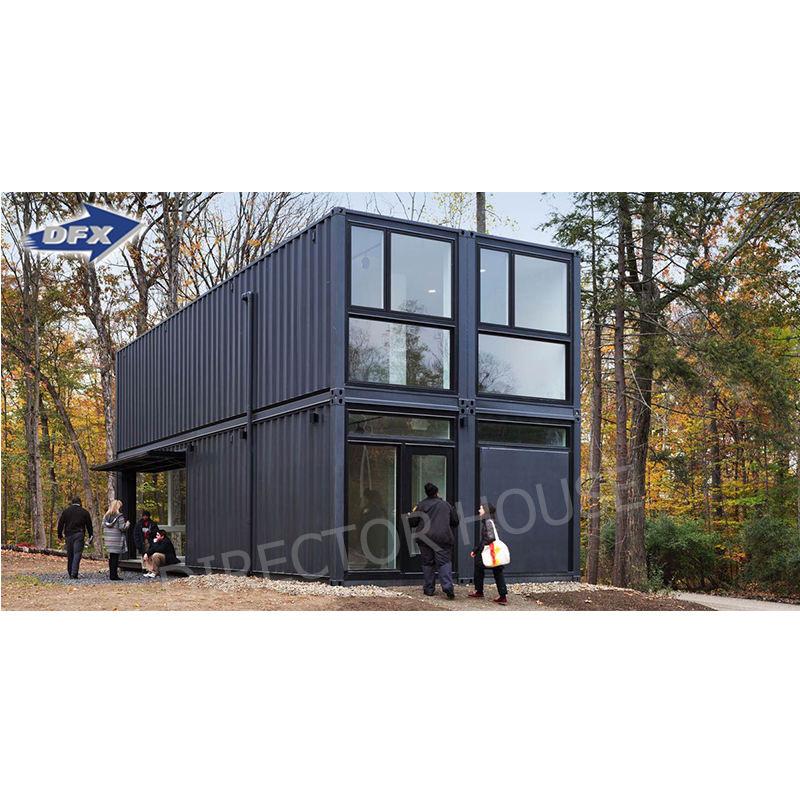 Venta caliente de lujo 20ft 40ft contenedor de envío modelo de 2 dormitorios casas prefabricadas contenedor oficina