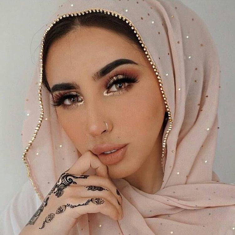 Free shipping Hot sale hijabs scarfs 2019 muslim fashion solid color shiny shawl bubble chiffon scarf hijab with rhinestone
