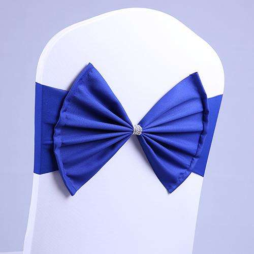 wedding chair sash BIG bow acrylic chair cover band elastic chair sashes spandex cover Decorations Event Party