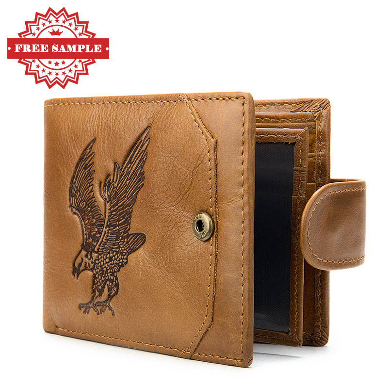 OEM ODM 7040 Accept Custom Logo Soft custom man Wallet Leather For Men Rfid Blocking Genuine