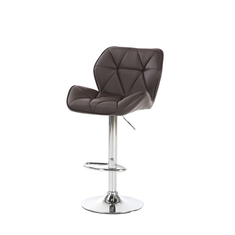 Modern design adjustable high bar counter chair leather seat bar stool for kitchen