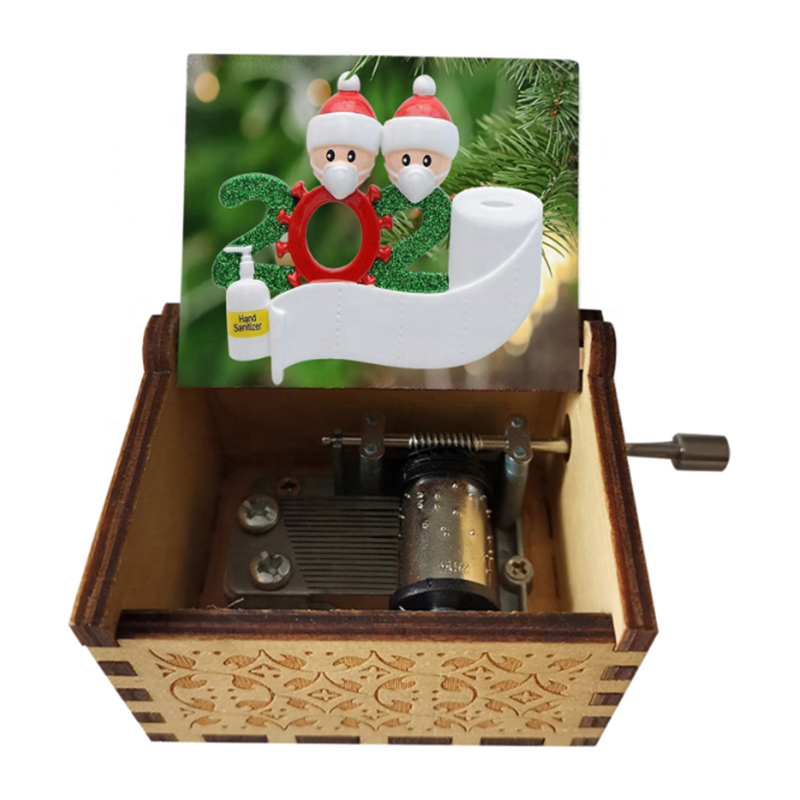 New Arrival Factory Custom Melody Hand Crank Wooden Small Music Box