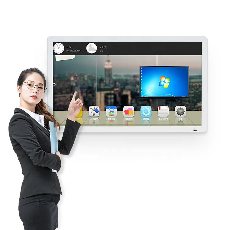 55 65 นิ้ว Wall Mount Interactive All In One Touch Screen สมาร์ททีวี
