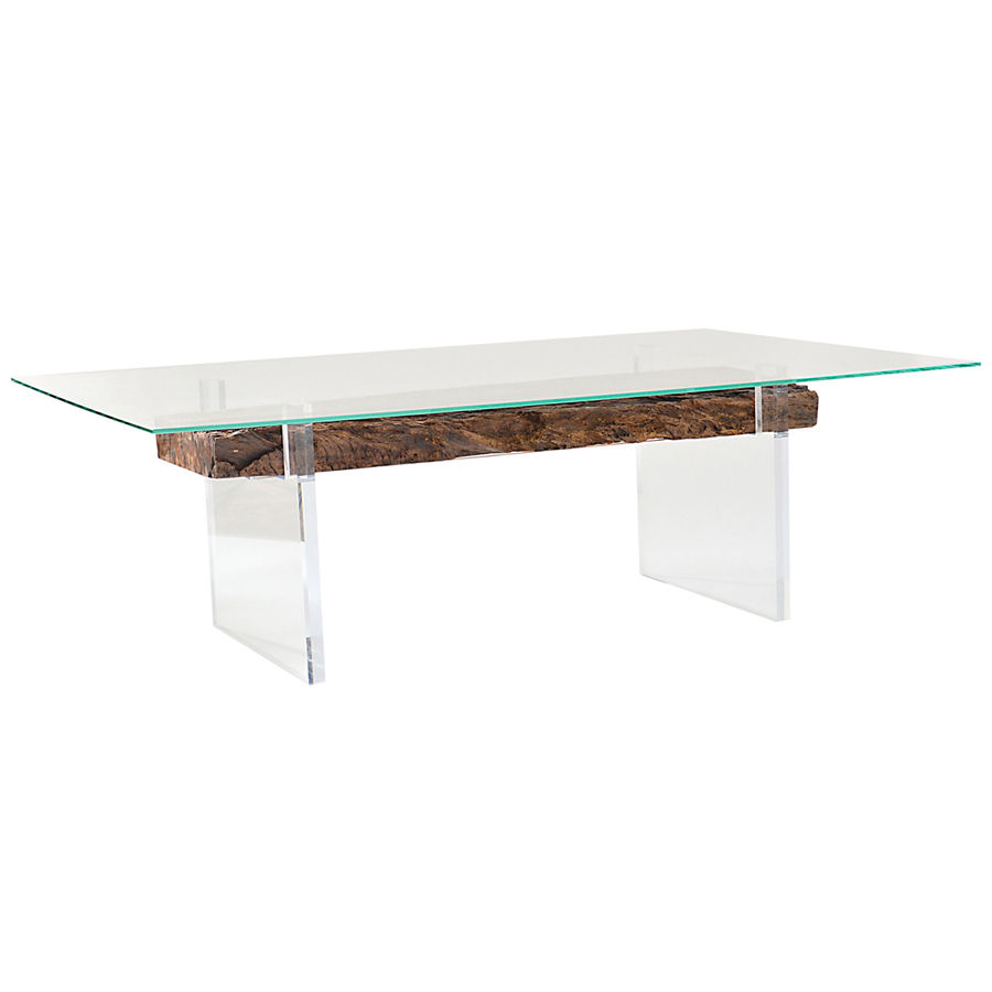 rectangle tempered glass with beveled edge tempered glass top coffee table