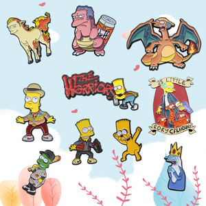 2020 Chinese direct factory cute anime simpsons soft enamel lapel pins