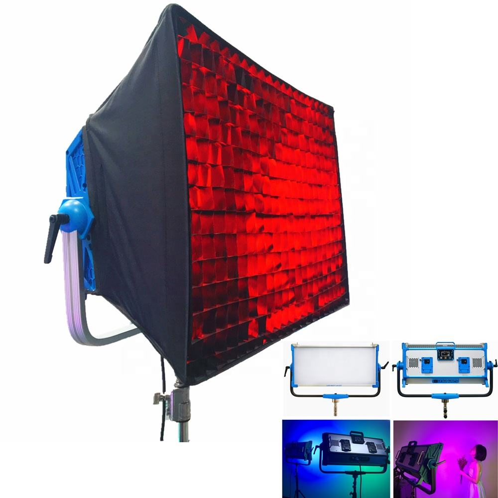 Yidoblo AI-3000C 300W 30000LM RGBW LED Panel Cahaya Fotografi Camcorder Video Light Kit dengan Kotak Lunak Film Kamera Pencahayaan