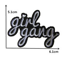 Novelty Girl Gang Letters Words Embroidery Punk Clothes Patch For Clothing Iron On Patch Motif Applique
