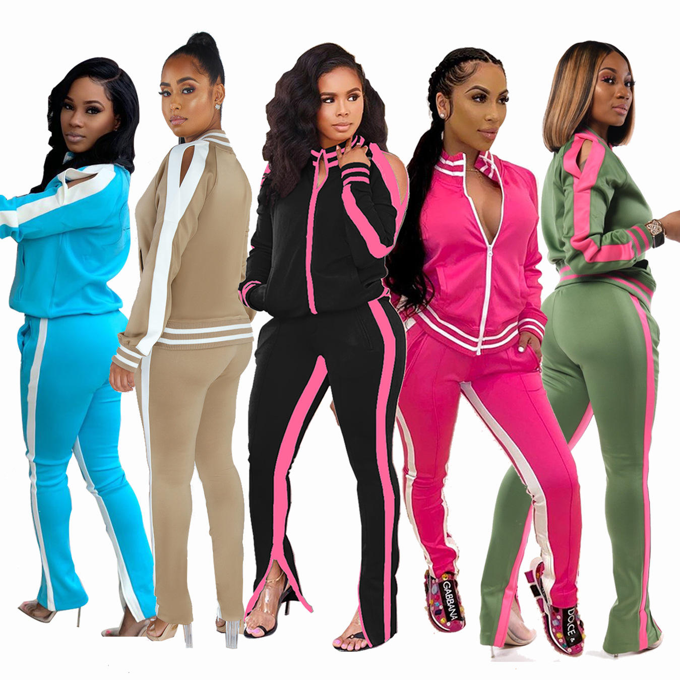 Casual Ladies Sweatsuit Two Piece Sets Jogging Suits Wholesale Plus Size Track Suit For Women Tracksuit Set