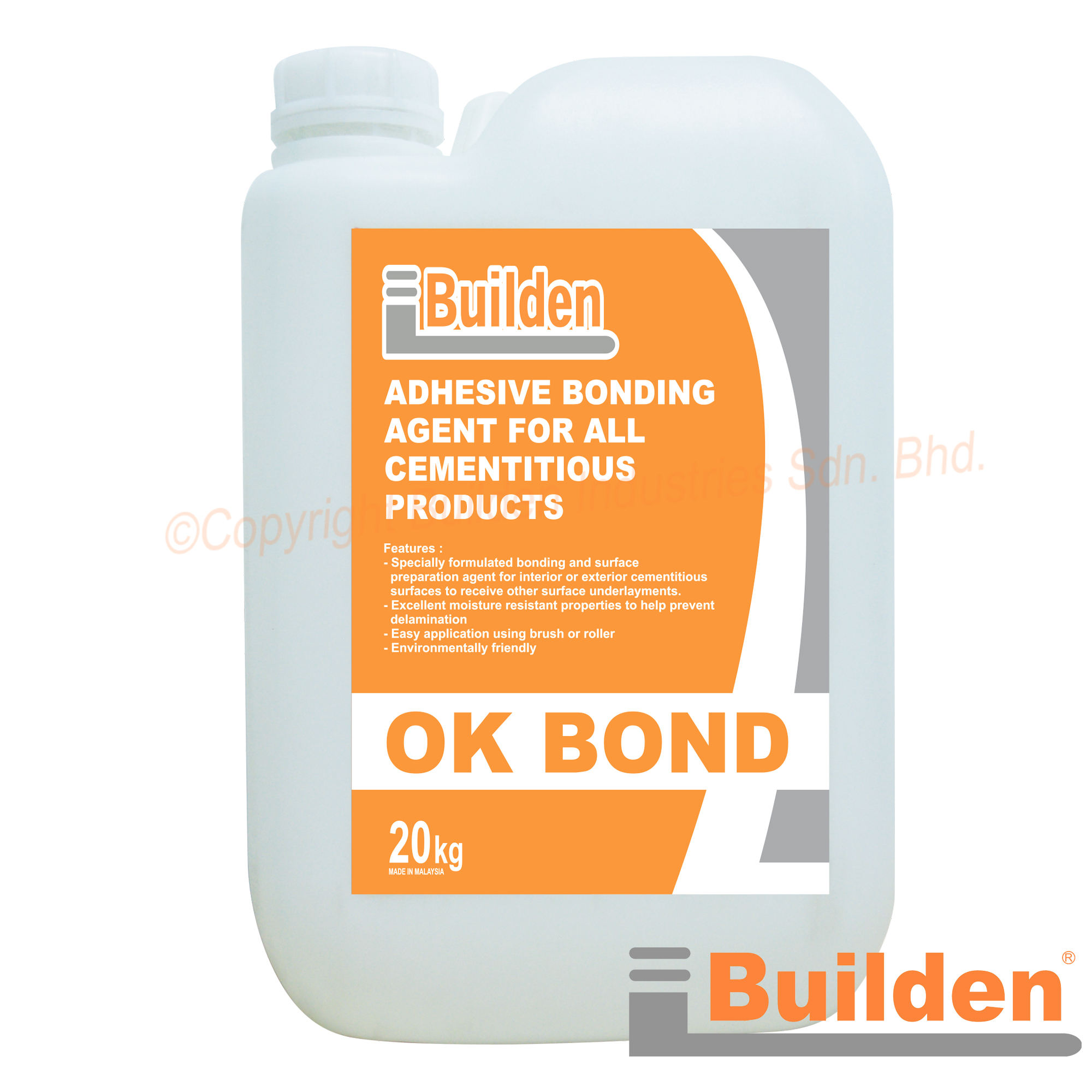Builden OK BOND Adhesive Bonding Agent for All Cementitious Products (20 KG)